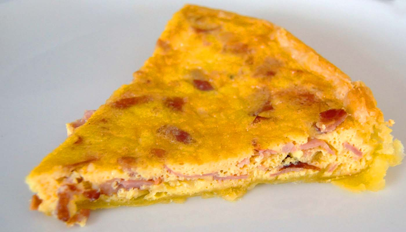 Receta de quiché de jamón york y bacon